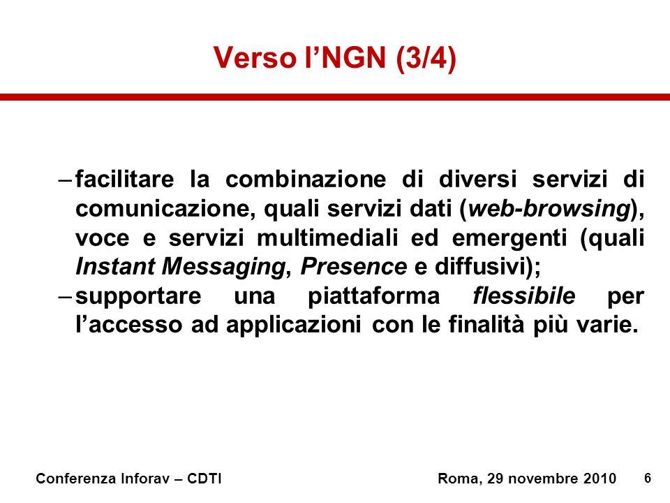 Verso l'NGN (3/4)