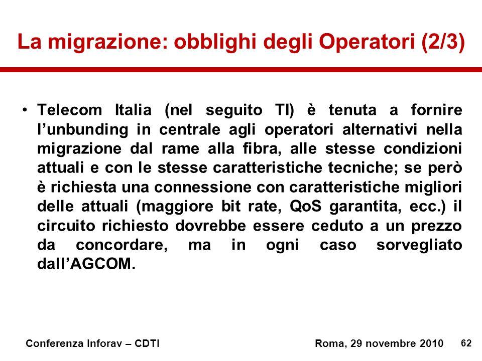 La migrazione: obblighi degli Operatori (2/3)