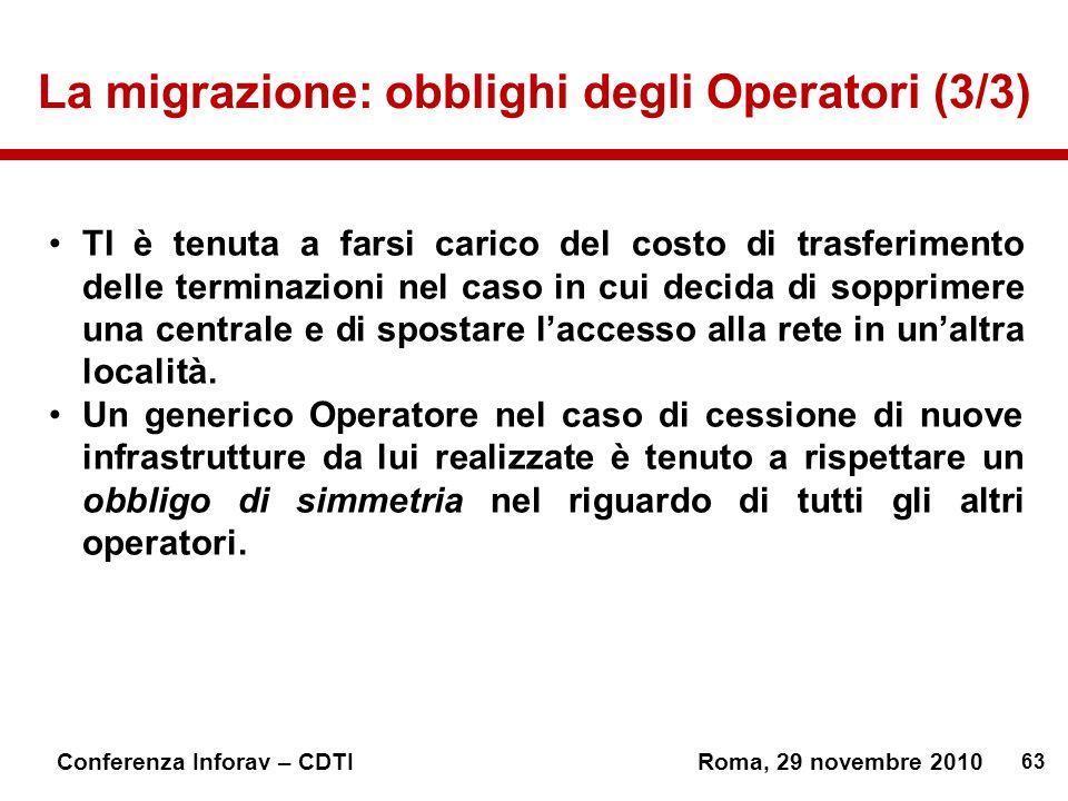 La migrazione: obblighi degli Operatori (3/3)