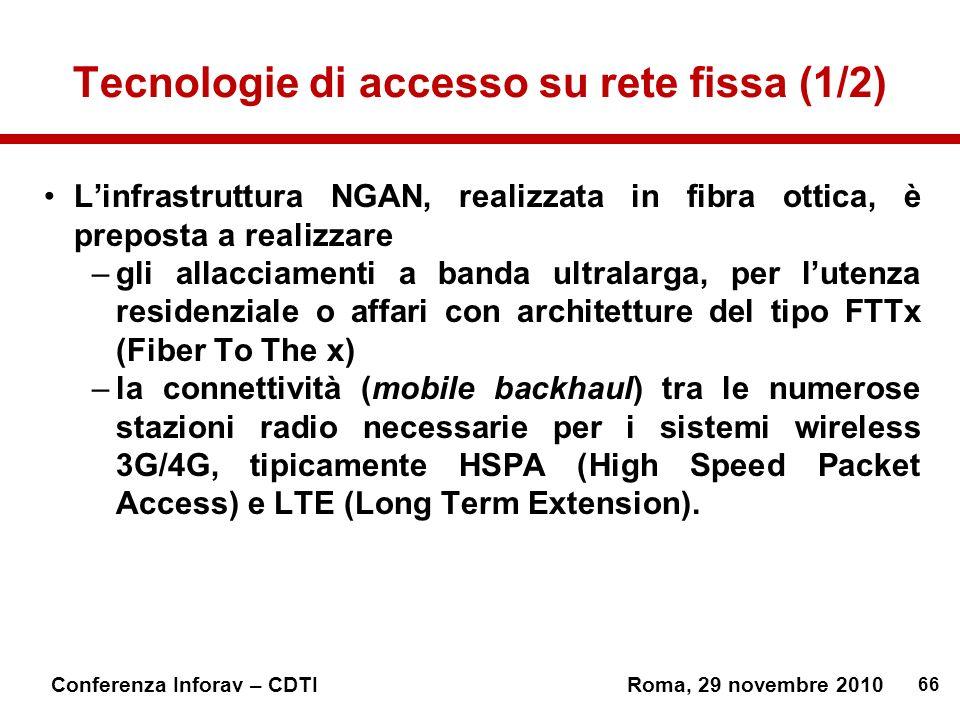 Tecnologie di accesso su rete fissa (1/2)
