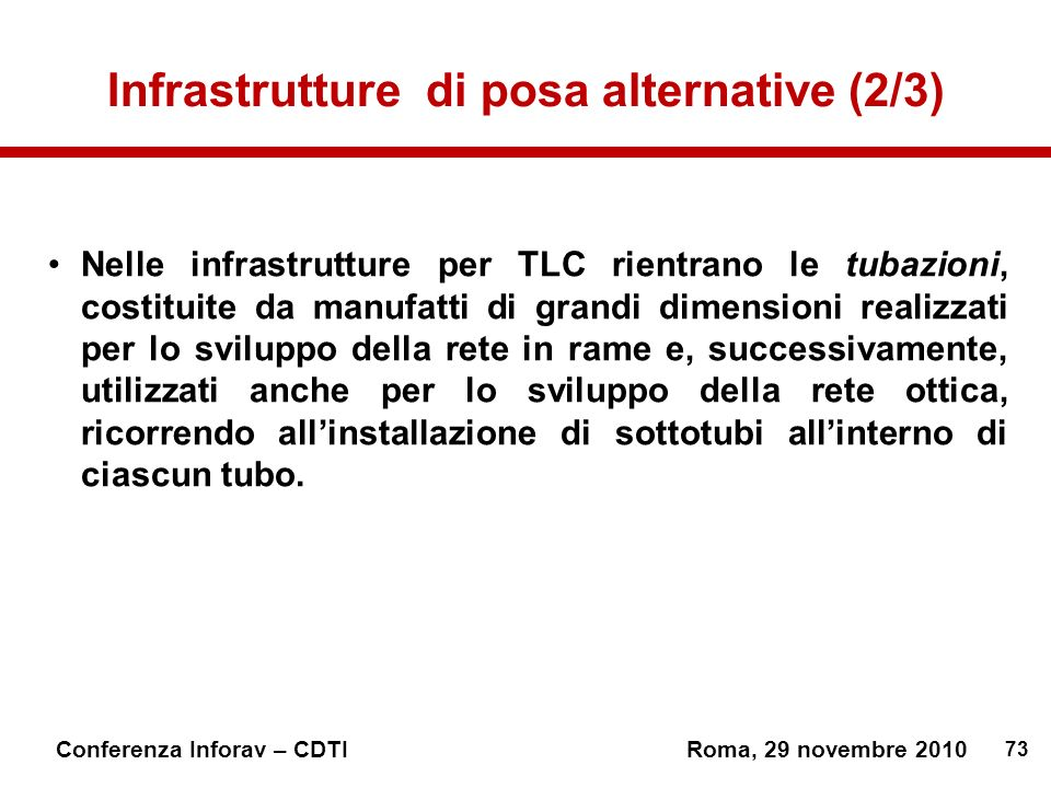 Infrastrutture di posa alternative (2/3)