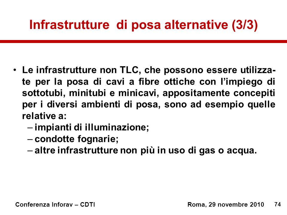 Infrastrutture di posa alternative (3/3)