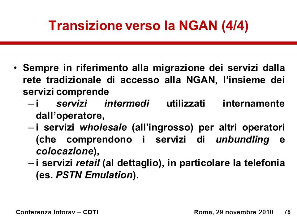 Transizione verso la NGAN (4/4)