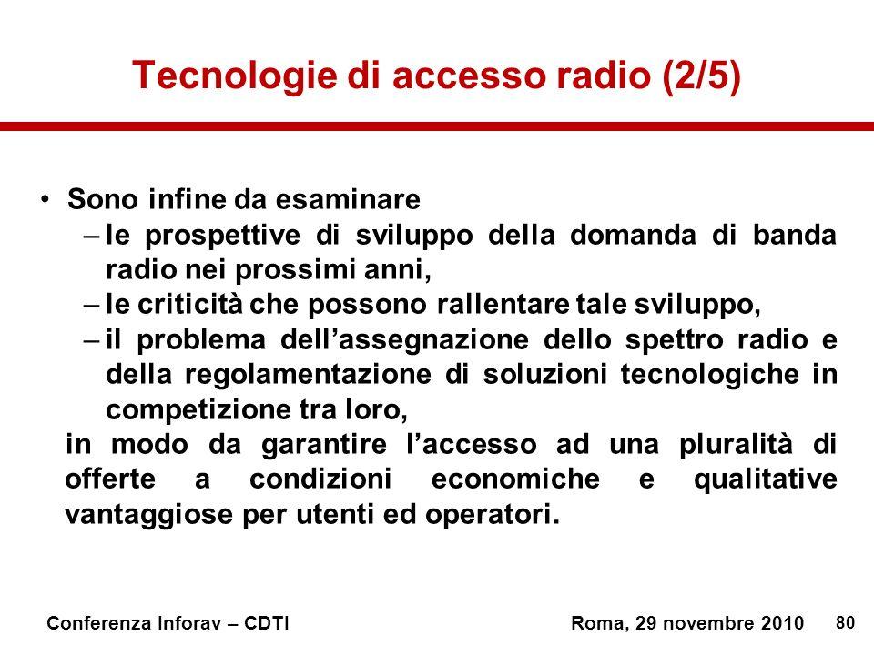 Tecnologie di accesso radio (2/5)