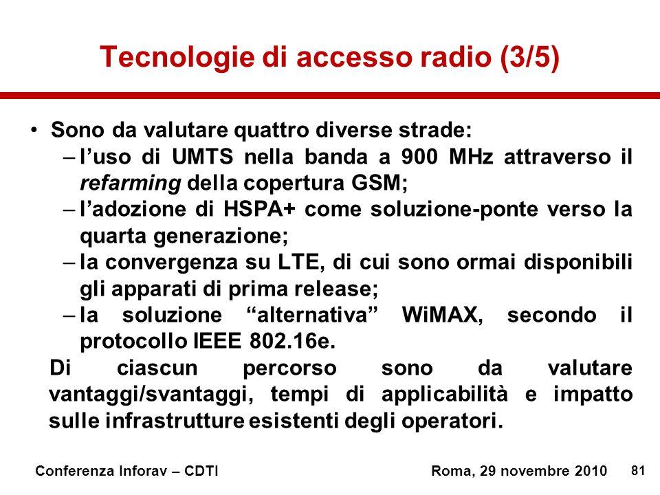 Tecnologie di accesso radio (3/5)