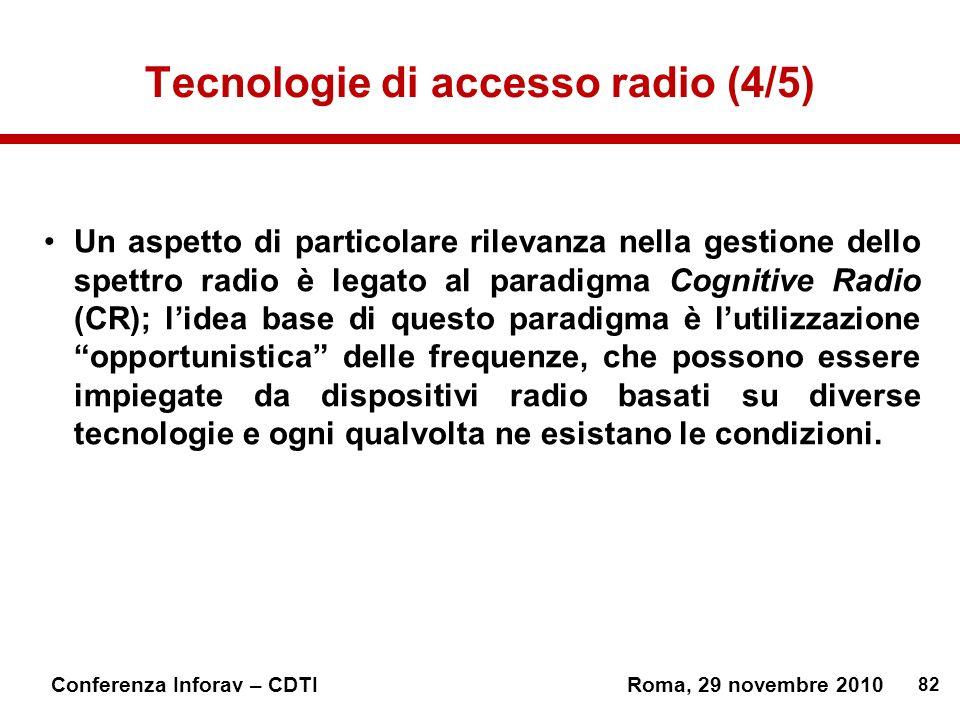 Tecnologie di accesso radio (4/5)