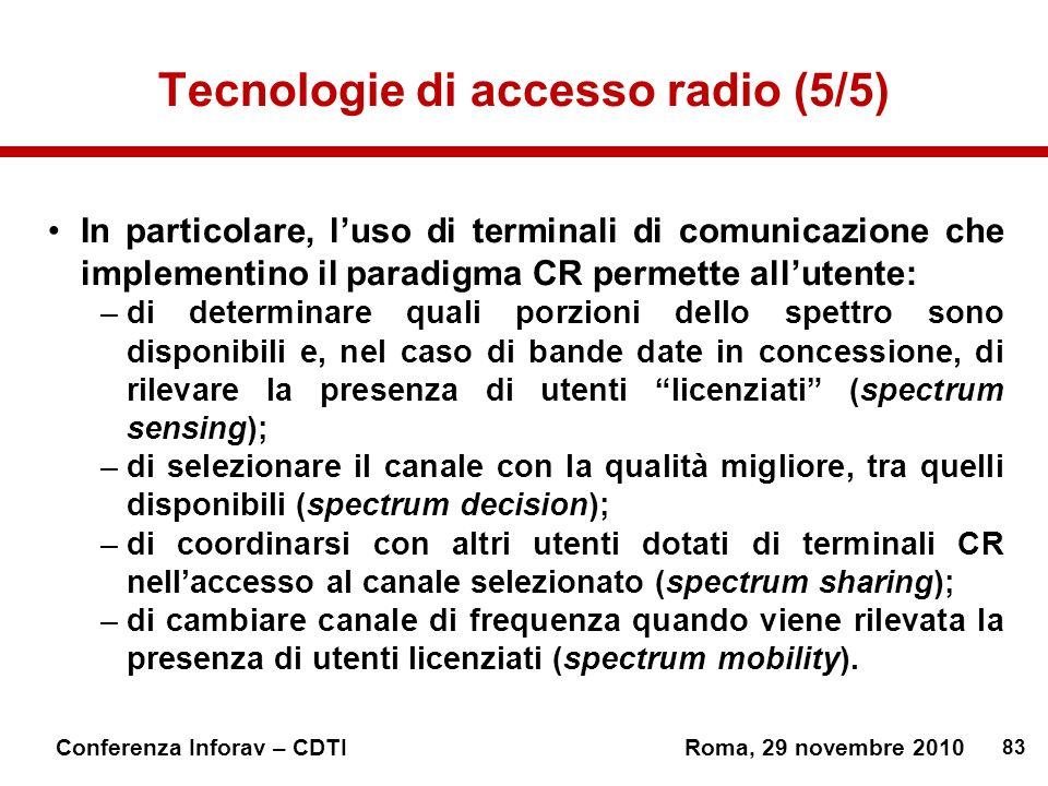 Tecnologie di accesso radio (5/5)