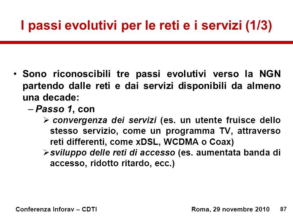 I passi evolutivi per le reti e i servizi (1/3)