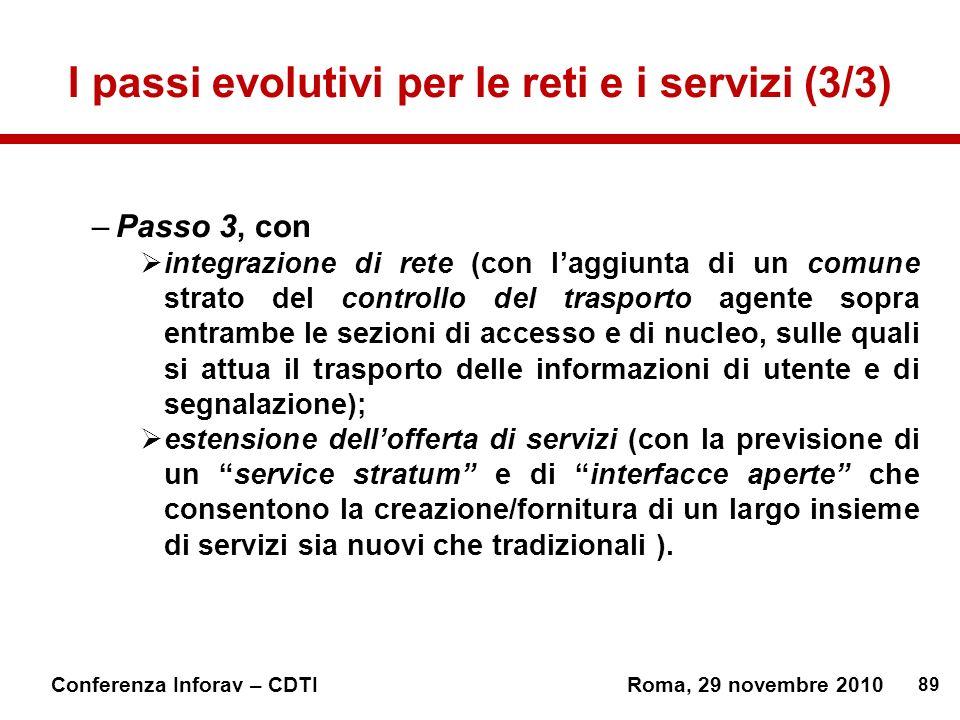 I passi evolutivi per le reti e i servizi (3/3)