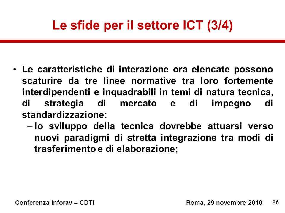 Le sfide per il settore ICT (3/4)