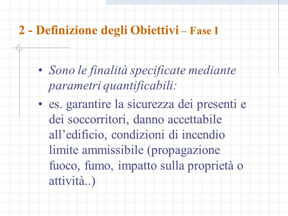 2 - Definizione degli Obiettivi – Fase I