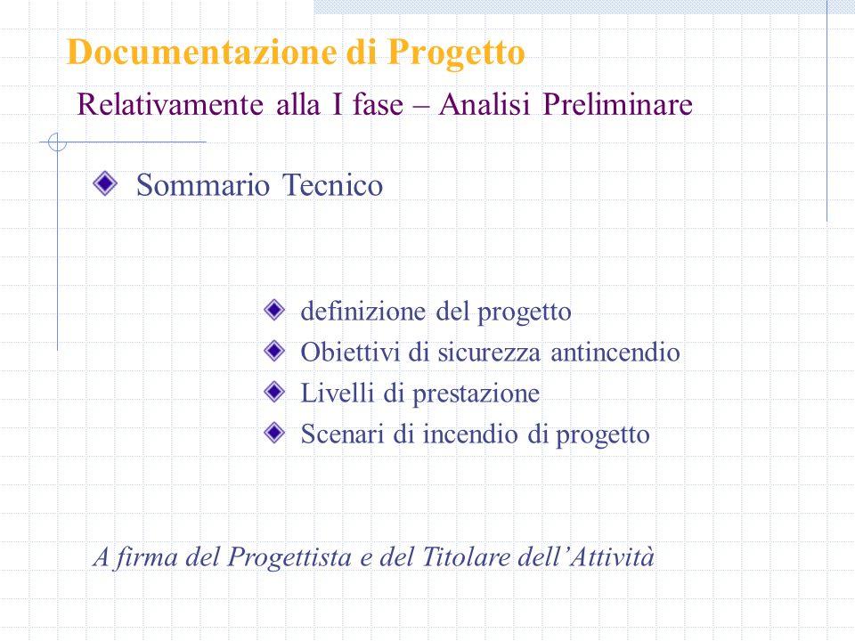Documentazione di Progetto Relativamente alla I fase – Analisi Preliminare