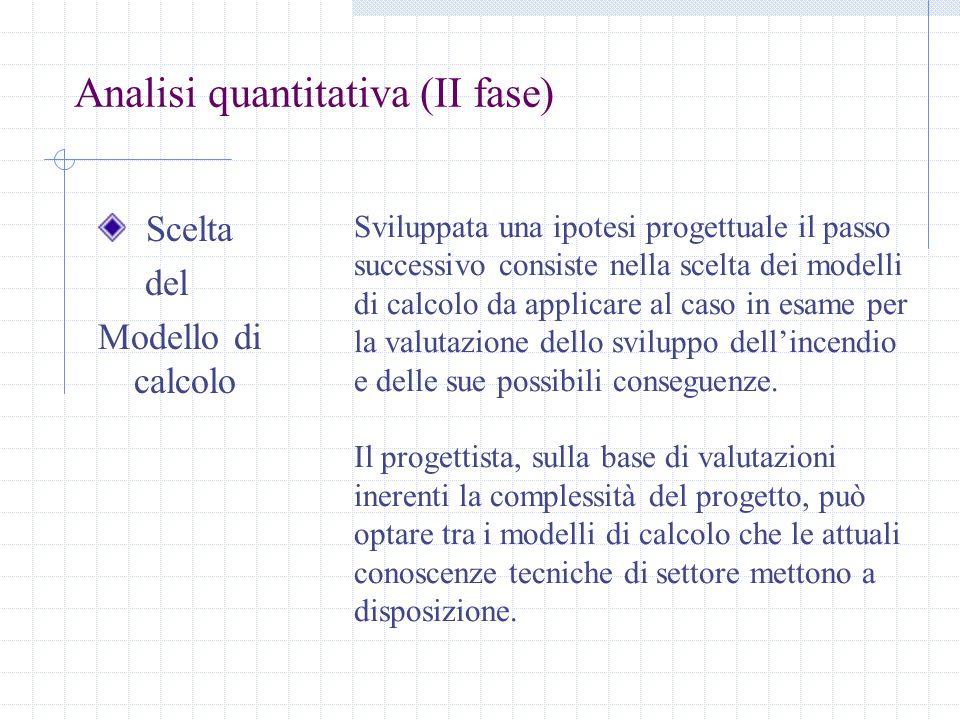 Analisi quantitativa (II fase)