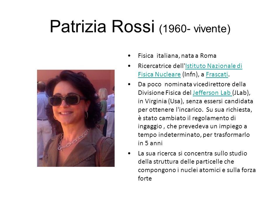 Patrizia Rossi (1960- vivente)