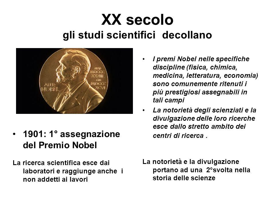 XX secolo gli studi scientifici decollano