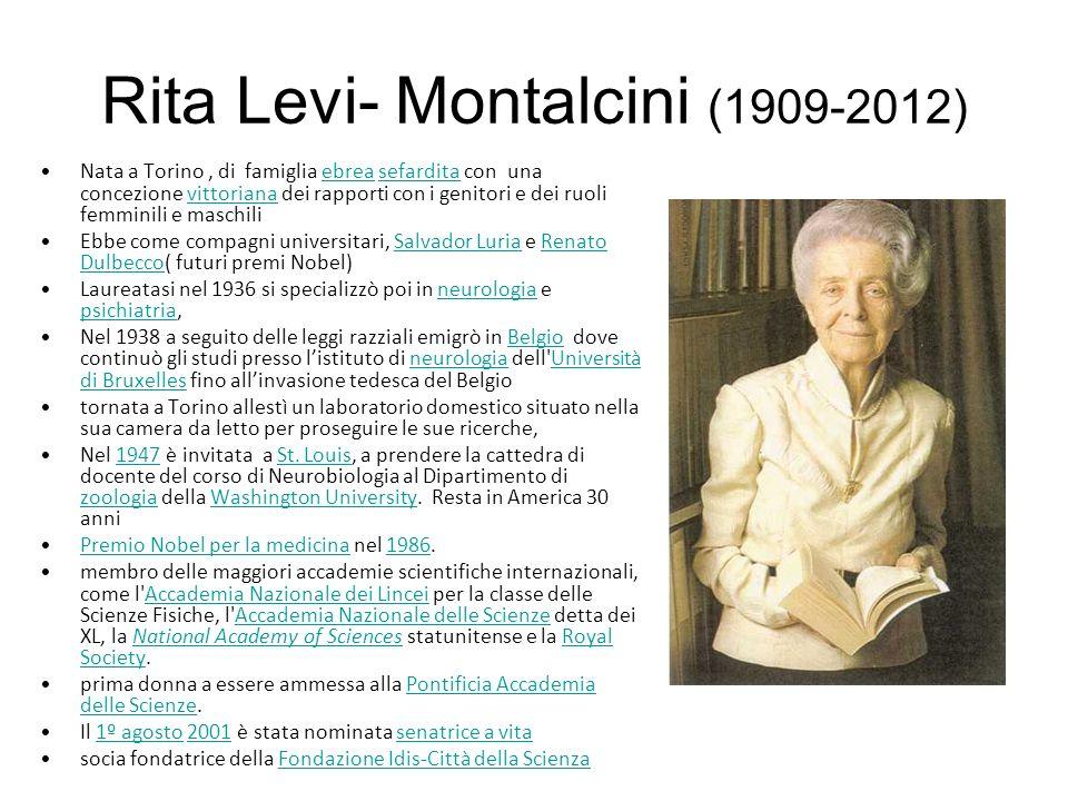 Rita Levi- Montalcini (1909-2012)