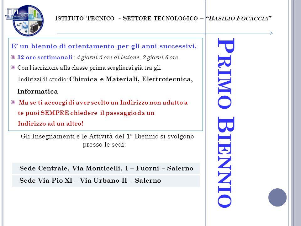 Istituto Tecnico - Settore tecnologico – Basilio Focaccia