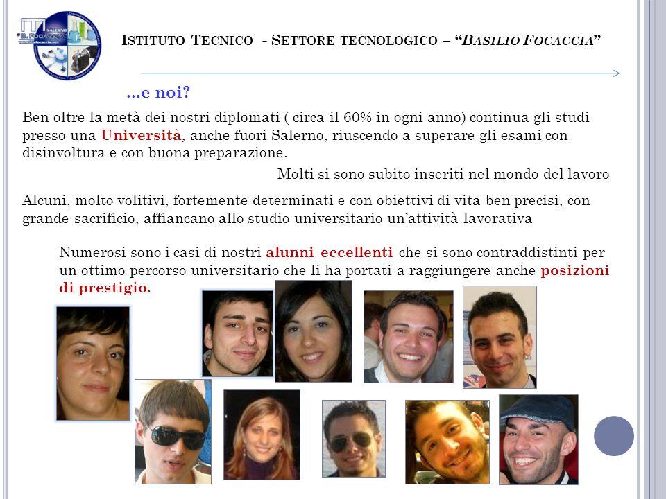 ...e noi Istituto Tecnico - Settore tecnologico – Basilio Focaccia