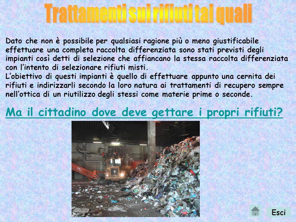 Trattamenti sui rifiuti tal quali