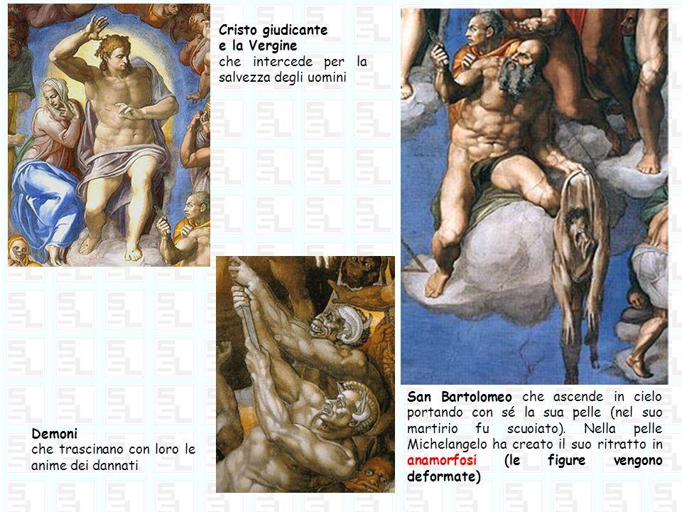 Cristo giudicante e la Vergine. che intercede per la salvezza degli uomini.