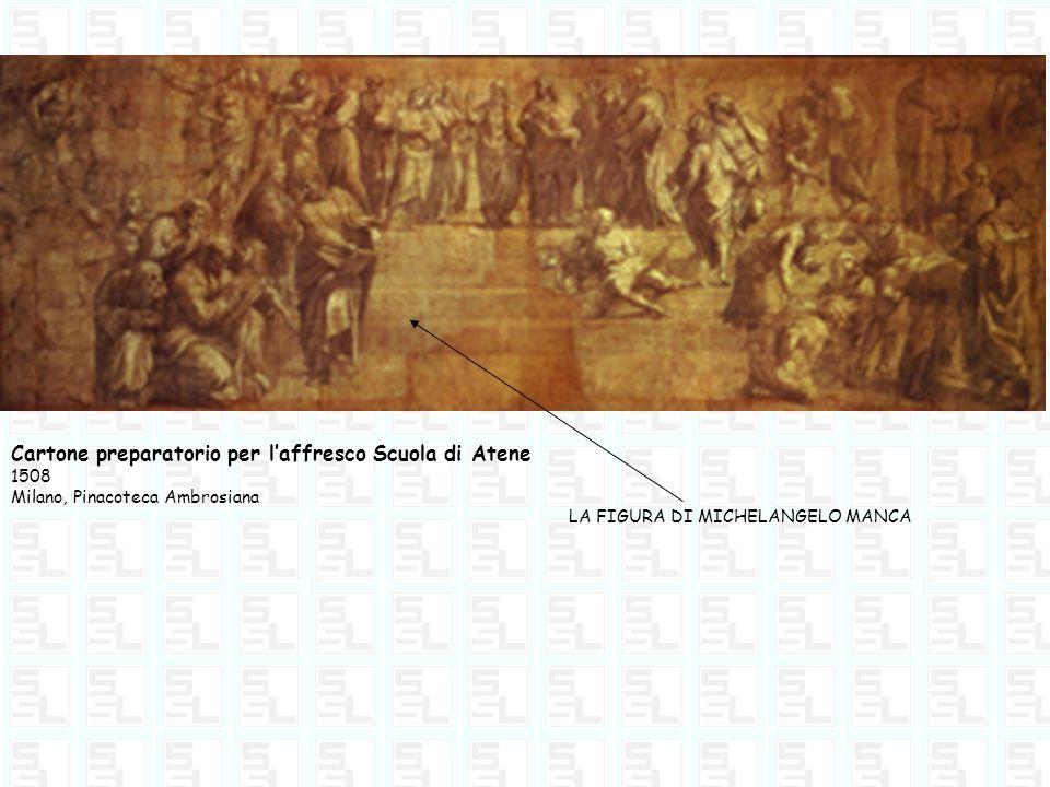 Cartone preparatorio per l'affresco Scuola di Atene
