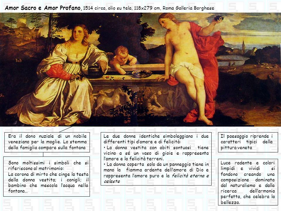 Amor Sacro e Amor Profano, 1514 circa, olio su tela, 118x279 cm, Roma Galleria Borghese