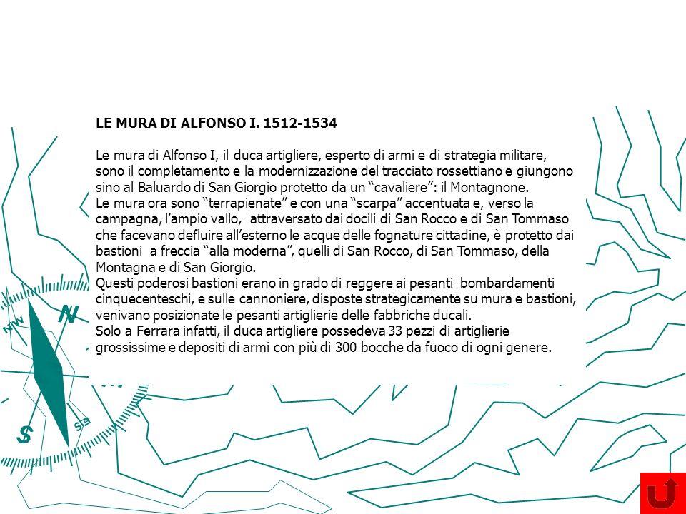 LE MURA DI ALFONSO I. 1512-1534
