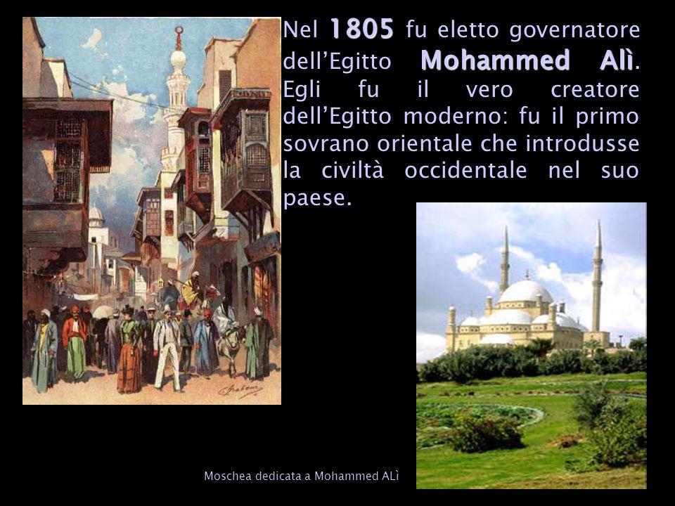 Nel 1805 fu eletto governatore dell'Egitto Mohammed Alì