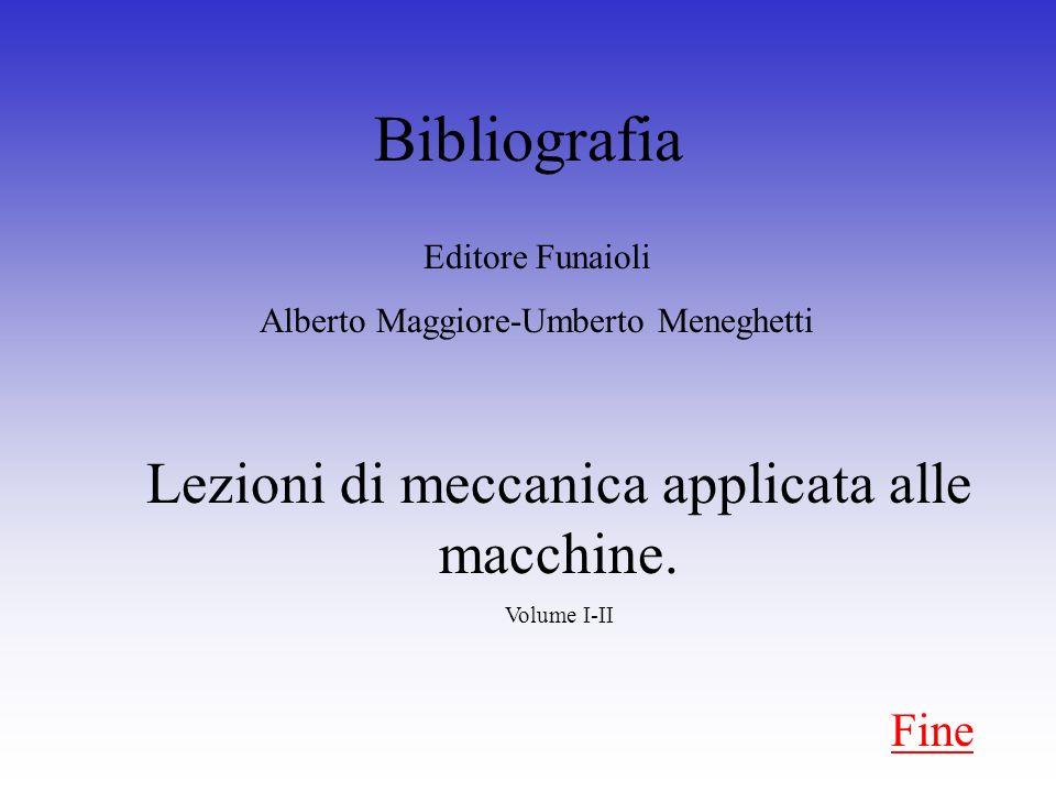 Bibliografia Lezioni di meccanica applicata alle macchine. Fine