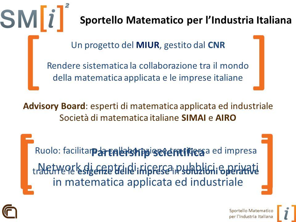 Sportello Matematico per l'Industria Italiana Partnership scientifica