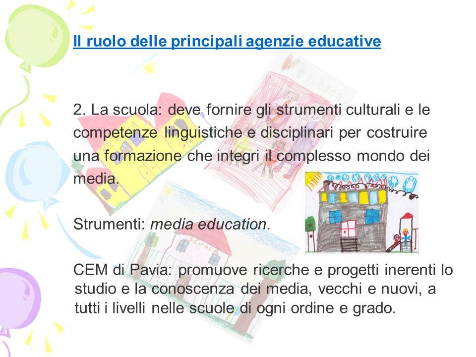 Il ruolo delle principali agenzie educative