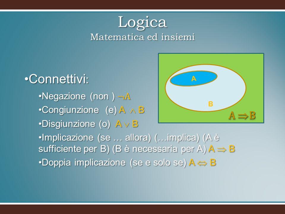 Logica Matematica ed insiemi