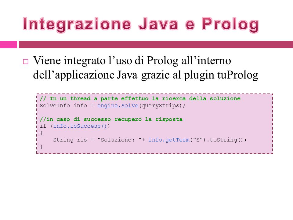 Integrazione Java e Prolog