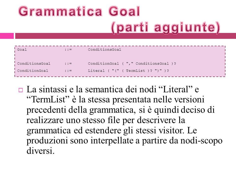 Grammatica Goal (parti aggiunte)