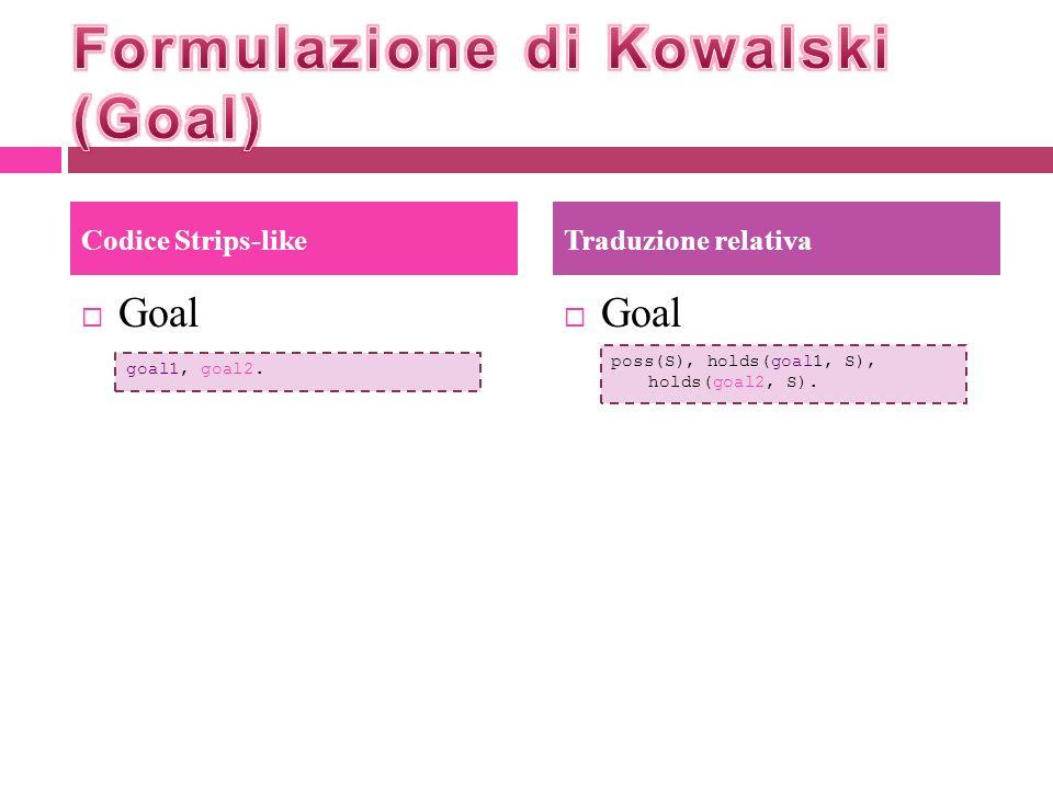 Formulazione di Kowalski (Goal)