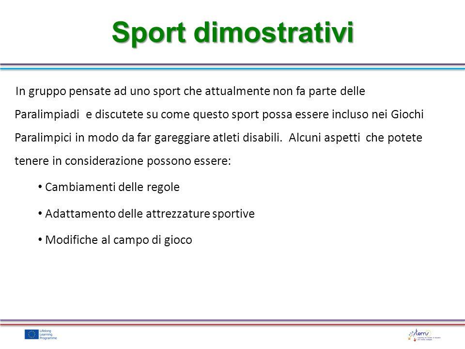 Sport dimostrativi