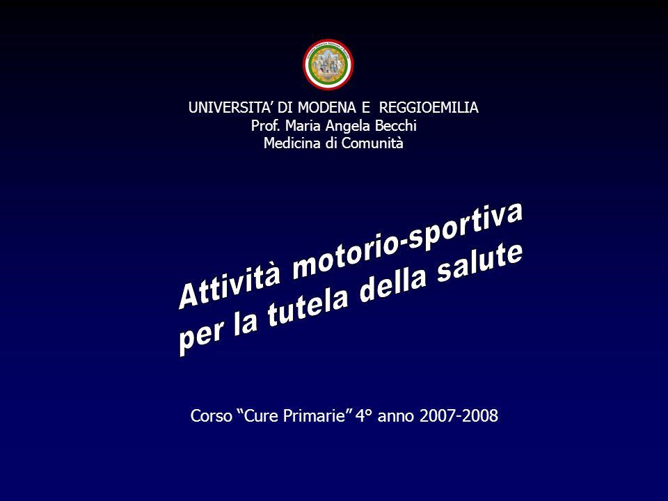 Attività motorio-sportiva per la tutela della salute