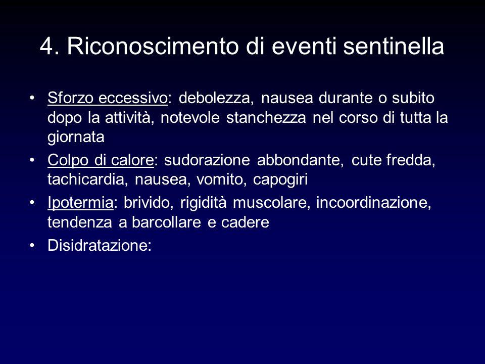 4. Riconoscimento di eventi sentinella