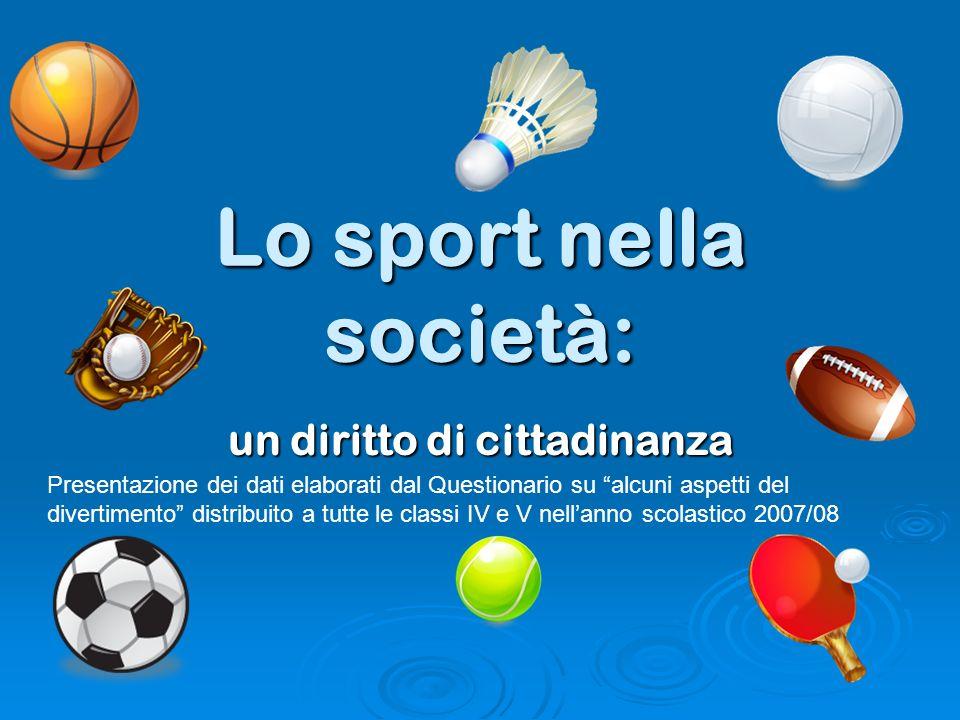 Lo sport nella società: