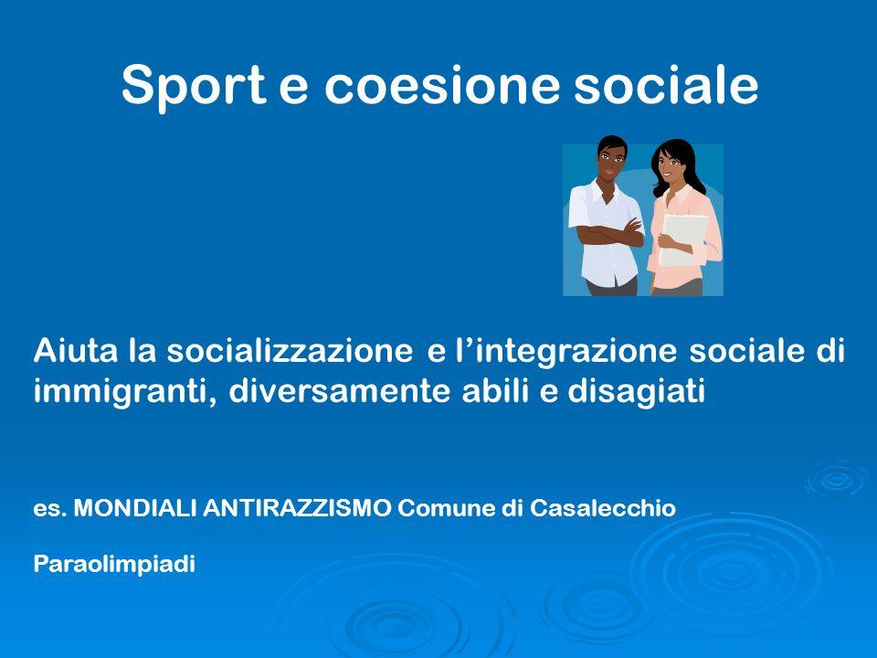 Sport e coesione sociale