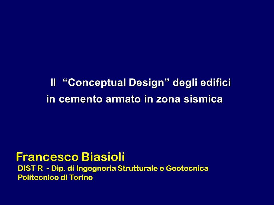 Il Conceptual Design degli edifici in cemento armato in zona sismica