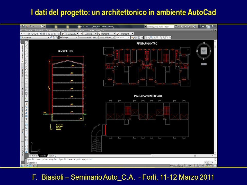 I dati del progetto: un architettonico in ambiente AutoCad