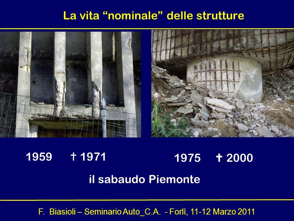La vita nominale delle strutture