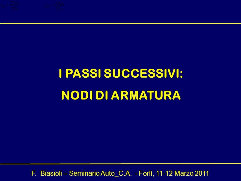I PASSI SUCCESSIVI: NODI DI ARMATURA