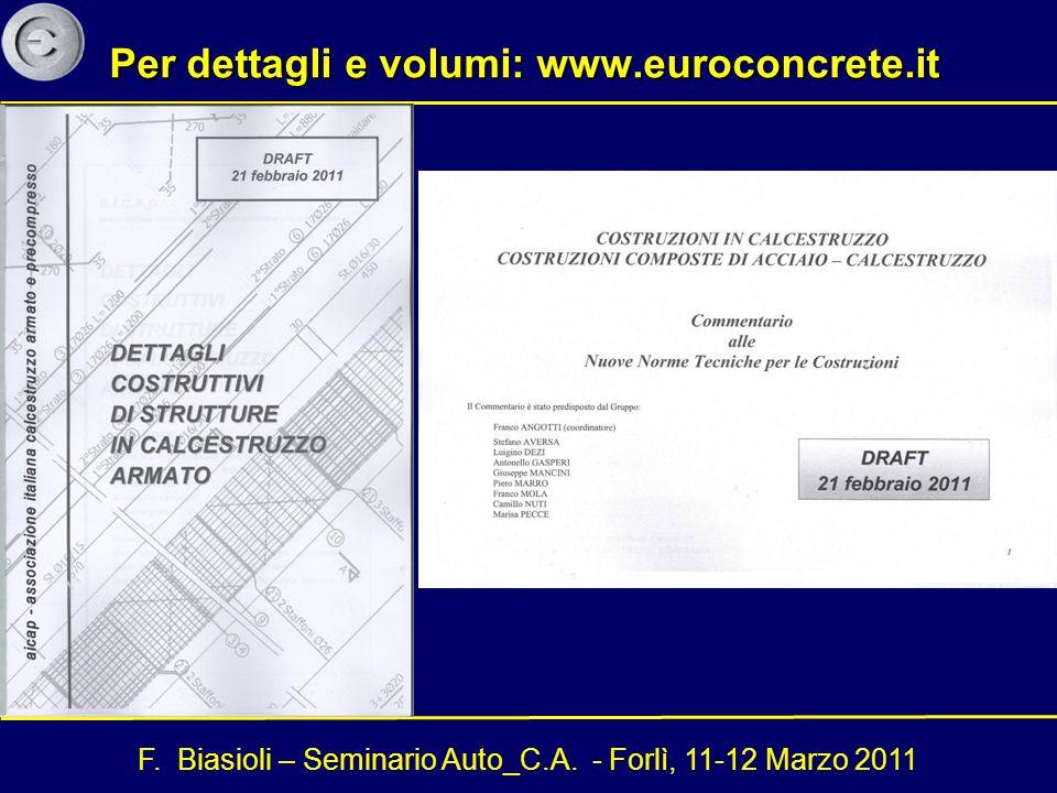 Per dettagli e volumi: www.euroconcrete.it