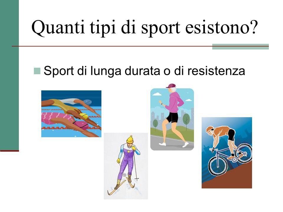 Quanti tipi di sport esistono