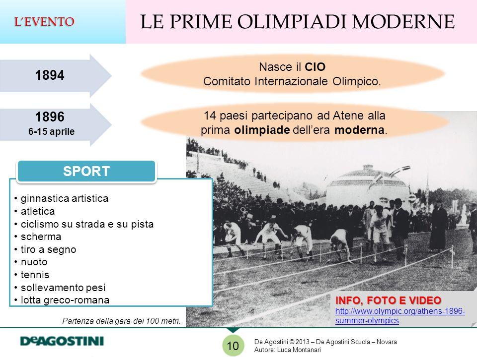 LE PRIME OLIMPIADI MODERNE