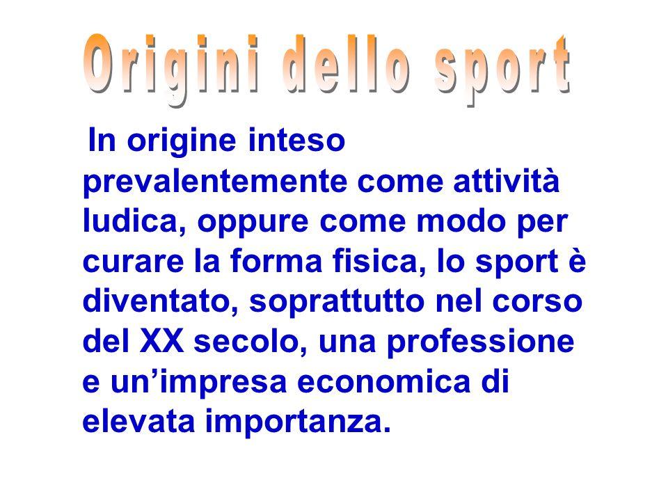 Origini dello sport