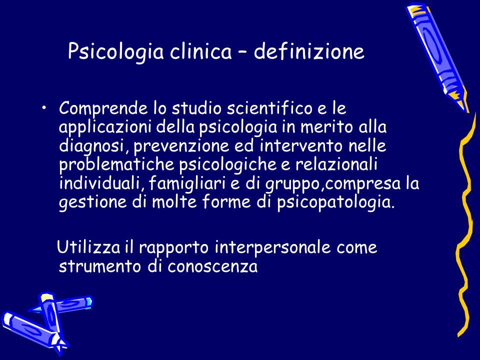 Psicologia clinica – definizione