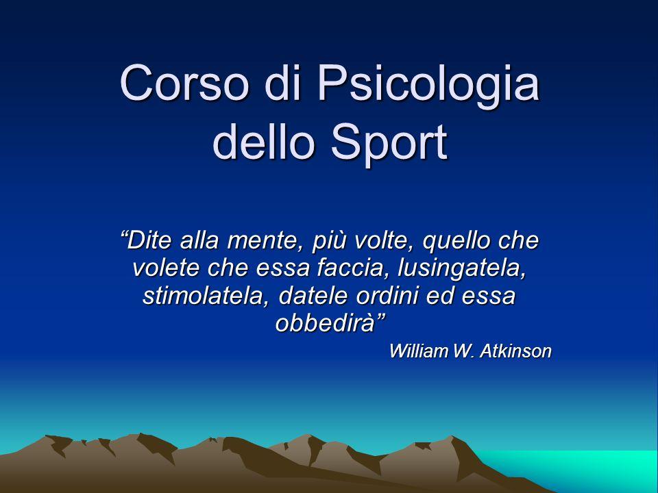 Corso di Psicologia dello Sport